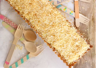 sweet coconut tart